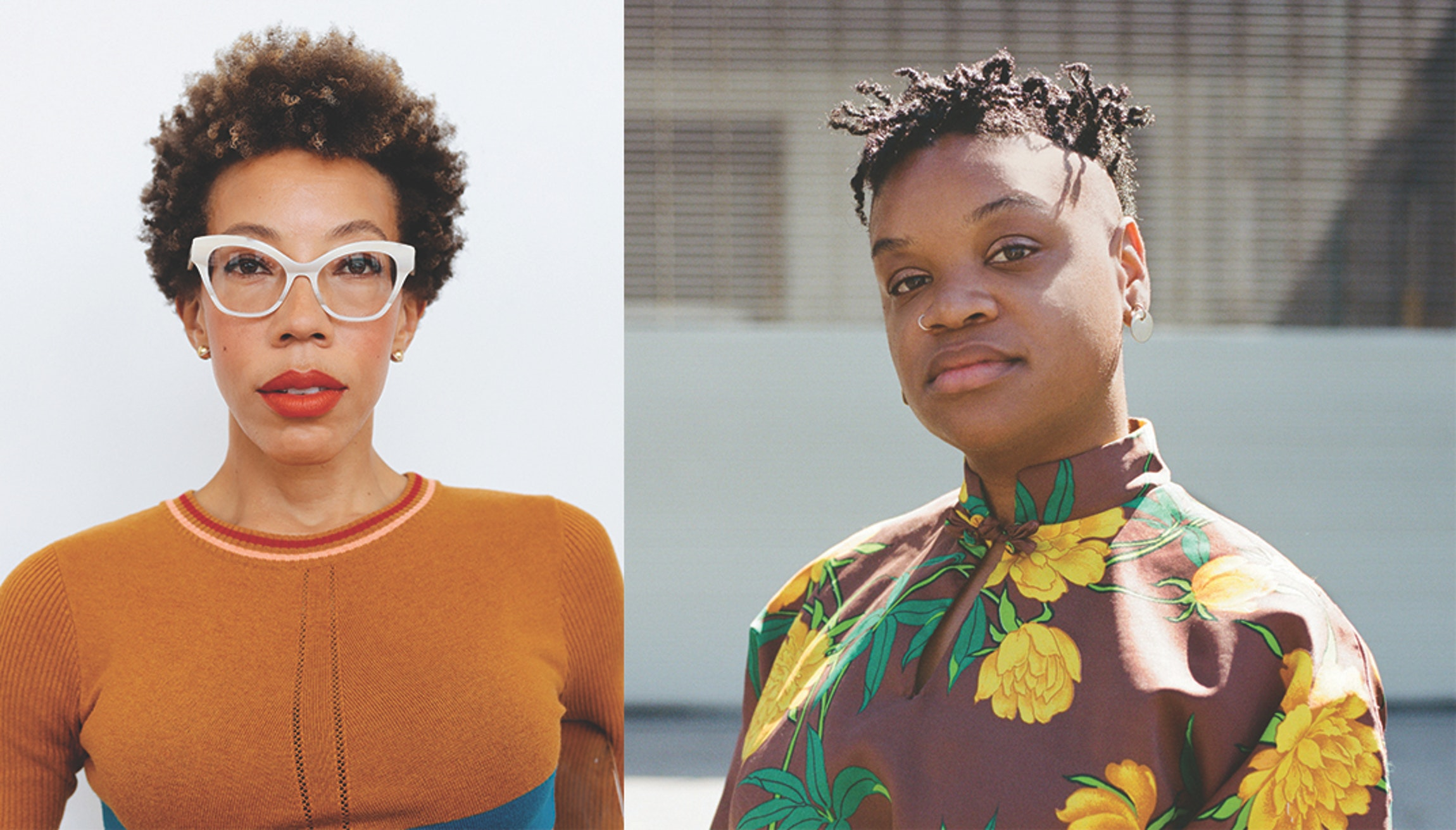 Left to Right: Amy Sherald. Photo: JJ Geiger; Erin Christovale. 11 May 2017. Photo by Paley Fairman.