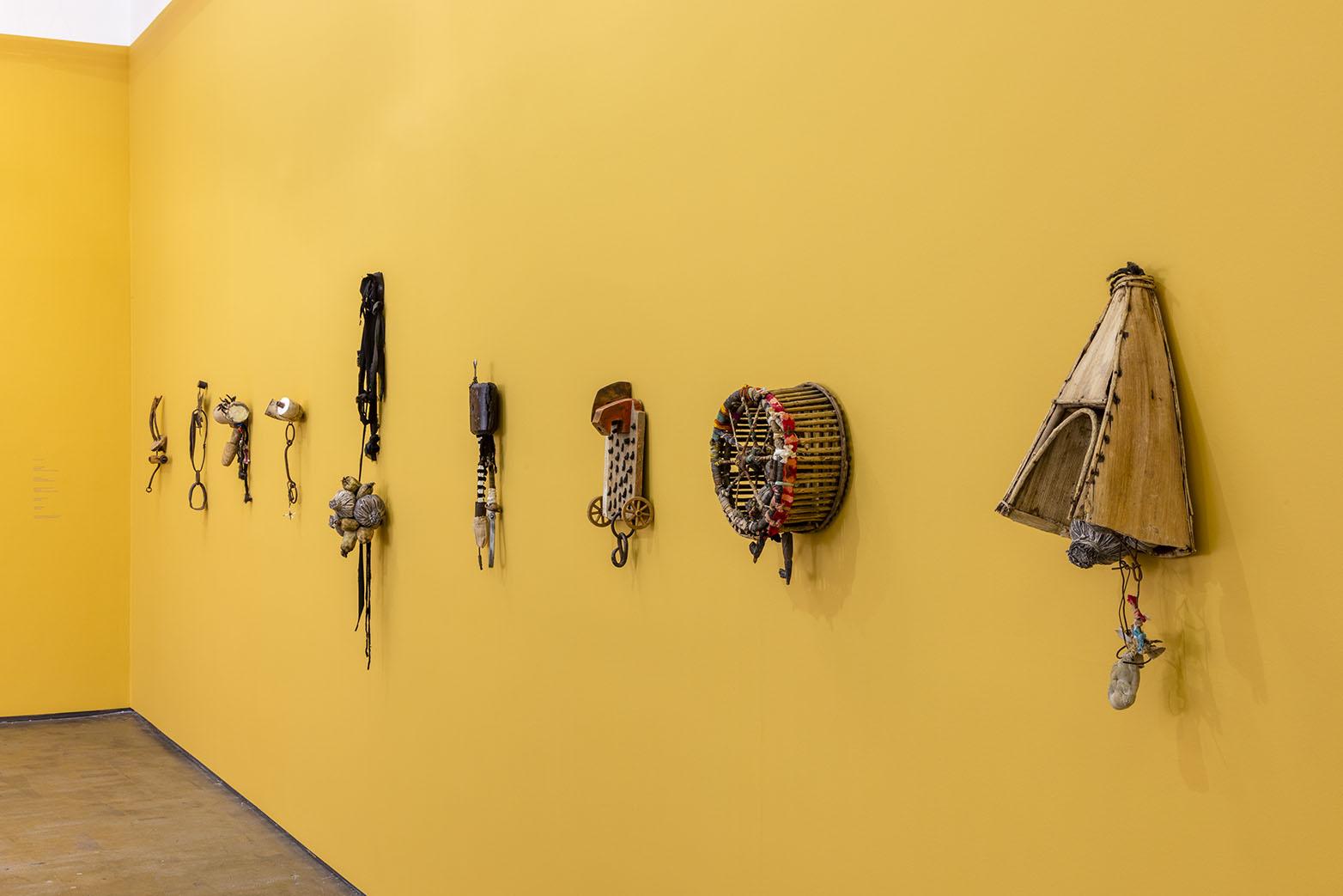 Installation view of John Outterbridge: Rag Man. Art + Practice, Los Angeles. December 12, 2015 - February 27, 2016. Photo: Joshua White/JWPictures.com.