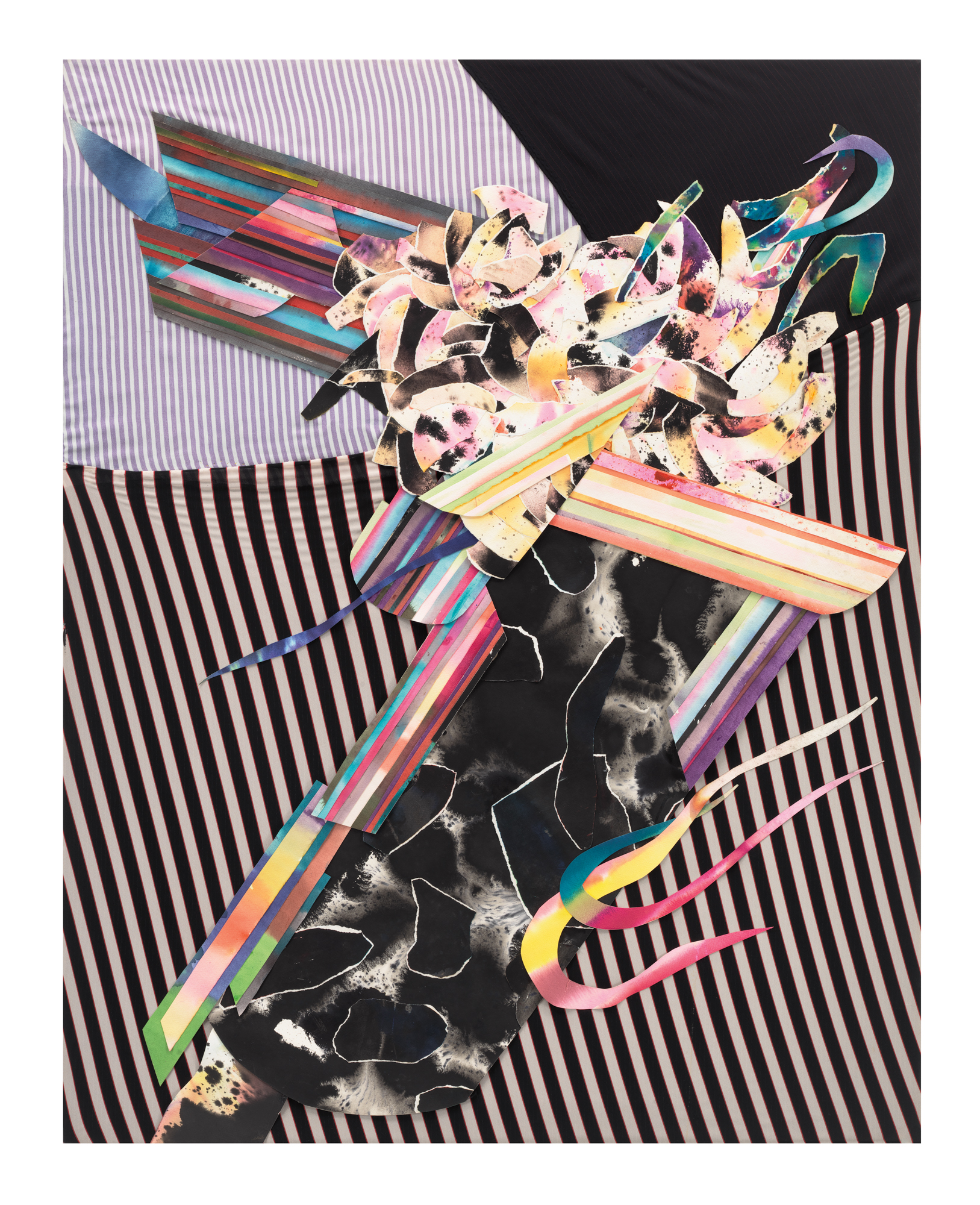 Al Loving, Untitled, 1982. Mixed media. 60 1/4 x 48 inches. Courtesy of the Estate of Al Loving and Garth Greenan Gallery, New York.