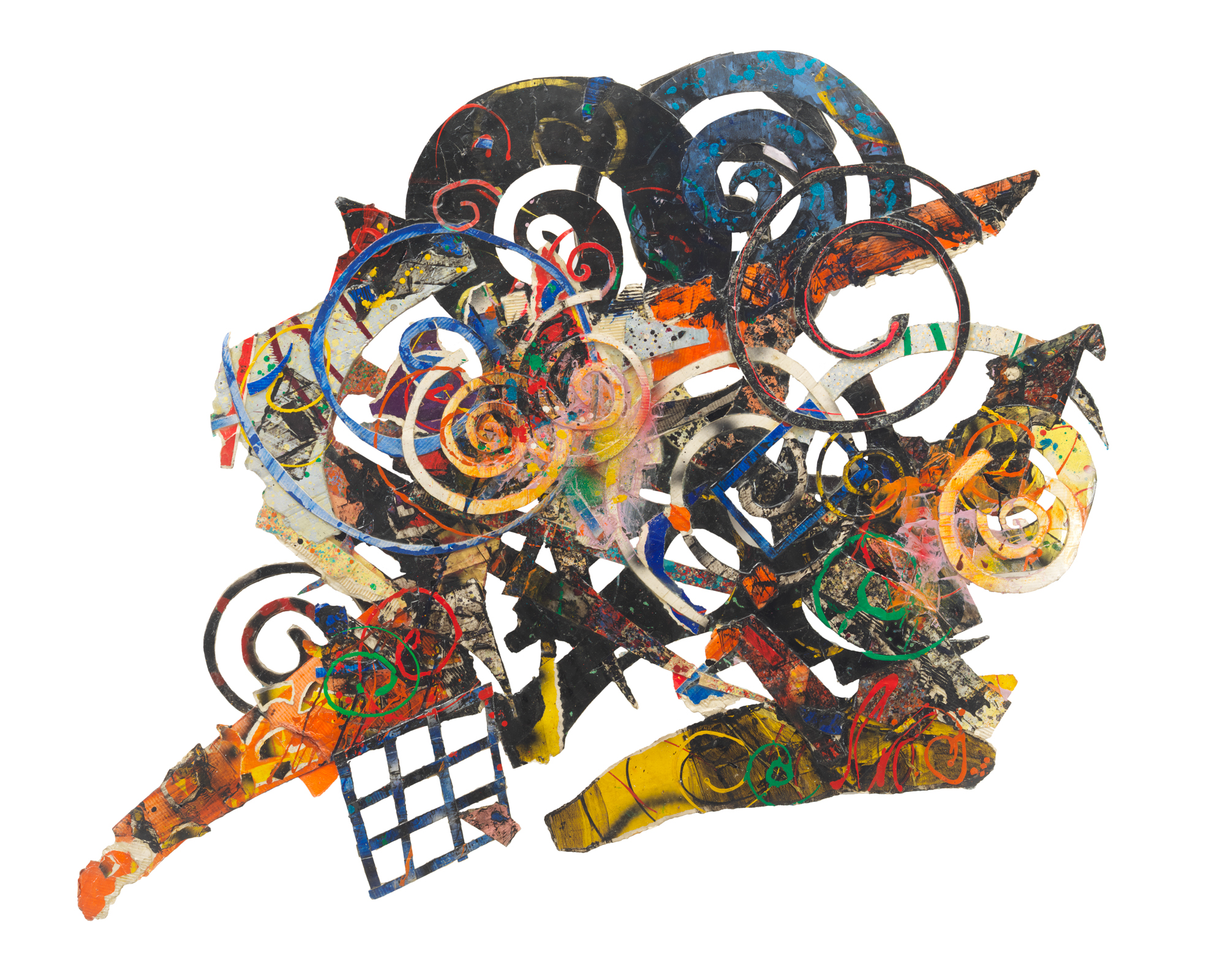 Al Loving, Humbird, 1989. Mixed media on board. 72 x 100 inches. Courtesy of the Estate of Al Loving and Garth Greenan Gallery, New York.