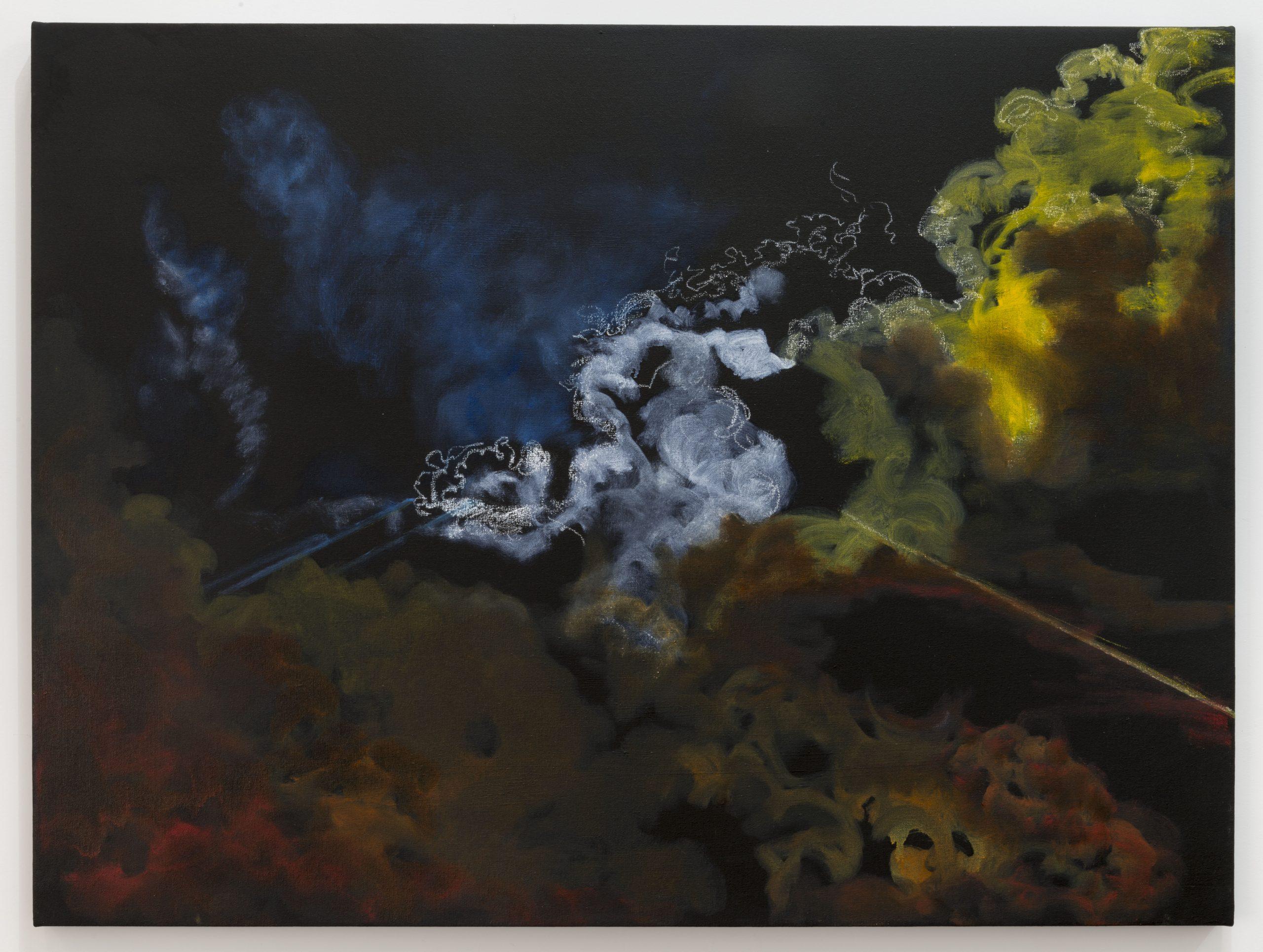 Sandy Rodriguez, Tear Gas No. 5 (Ferguson), 2015. Oil on canvas. 36 x 48 inches. Courtesy of the artist. Photo: Joshua White/JWPictures.com