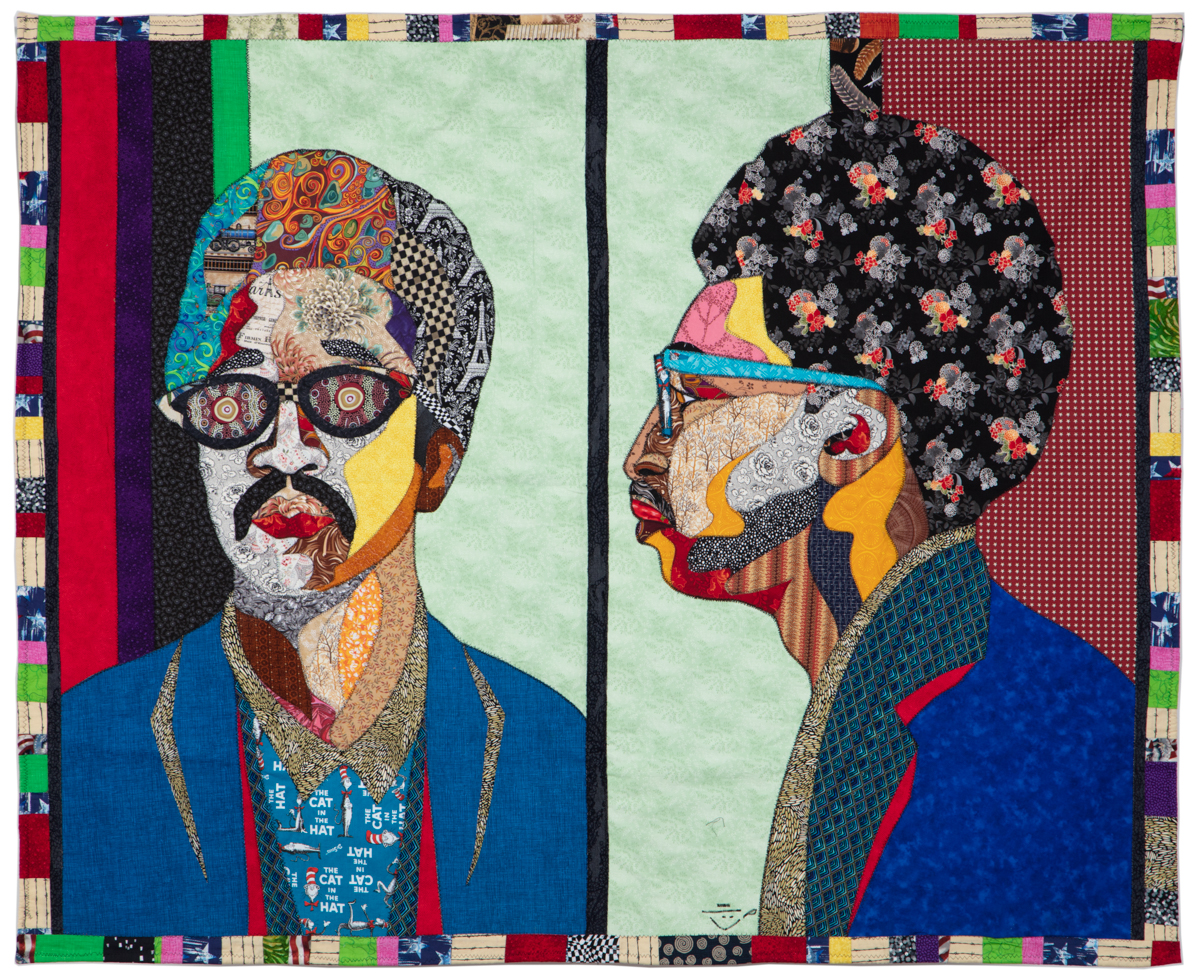 Ramsess, H. Rap Brown, 2008. Fabric. 67 1/2 x 55 inches. Photo by Damian Turner. Courtesy of the artist.