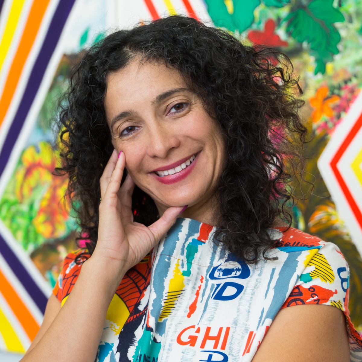 Carolyn Castaño in her studio. Photo by Lluvia Higuera.