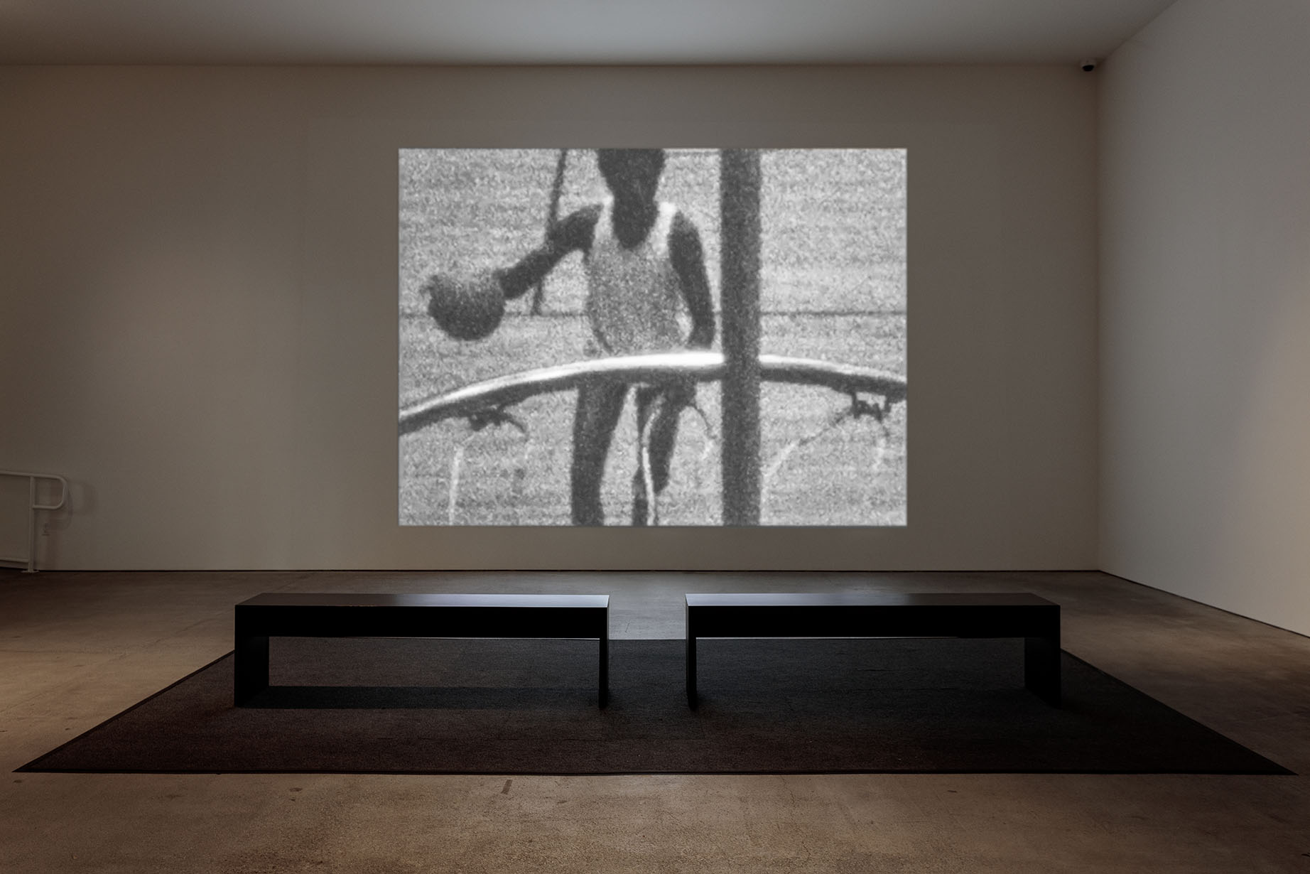 Installation view of Time is Running Out of Time: Experimental Film and Video from the L.A. Rebellion and Today at Art + Practice. 2 February - 14 September 2019. Photo by Joshua White.