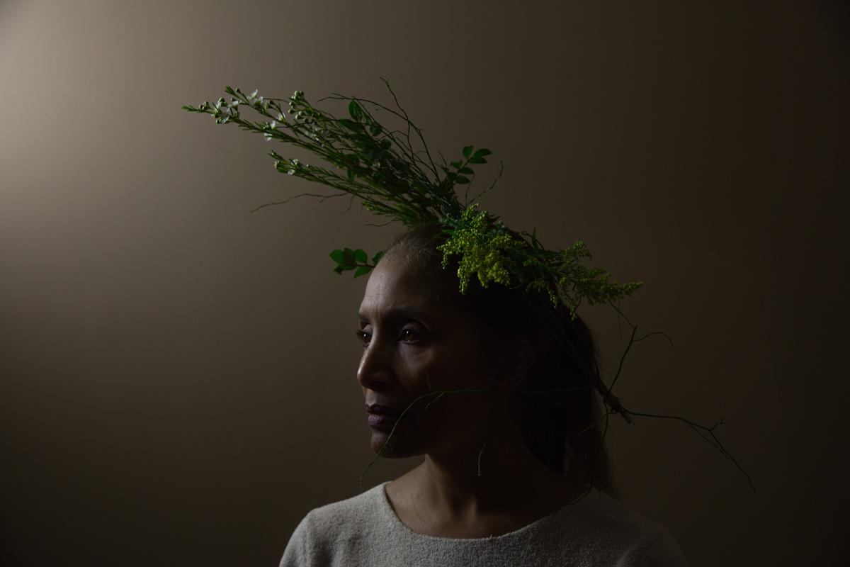 Storyteller Sybil Desta in Portrait of My Mother, 2016. Experimental short documentary by Sophia Nahli Allison.