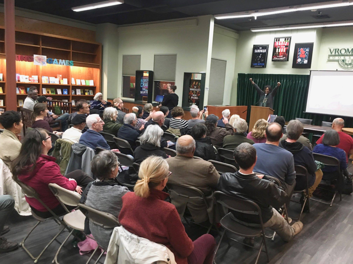 Author Lynell George speaks about her book After/Image: Los Angeles Outside the Frame (Angel City Press) at Vroman's Bookstore in in Pasadena.