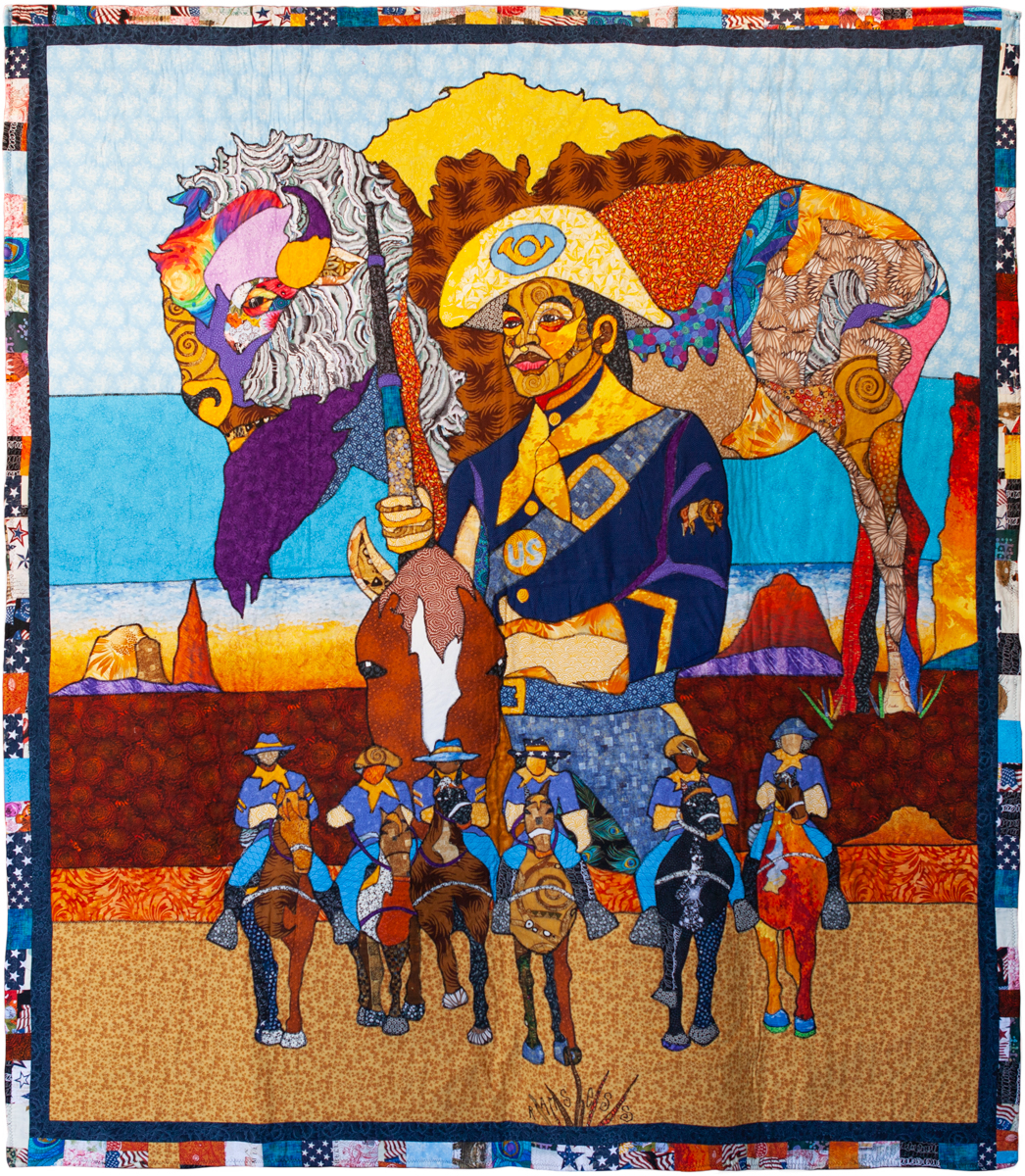 Ramsess, Cathay Williams, Buffalo Soldier, 2016. Fabric. 60 x 70 inches. Photo by Natalie Hon. Courtesy of the artist.