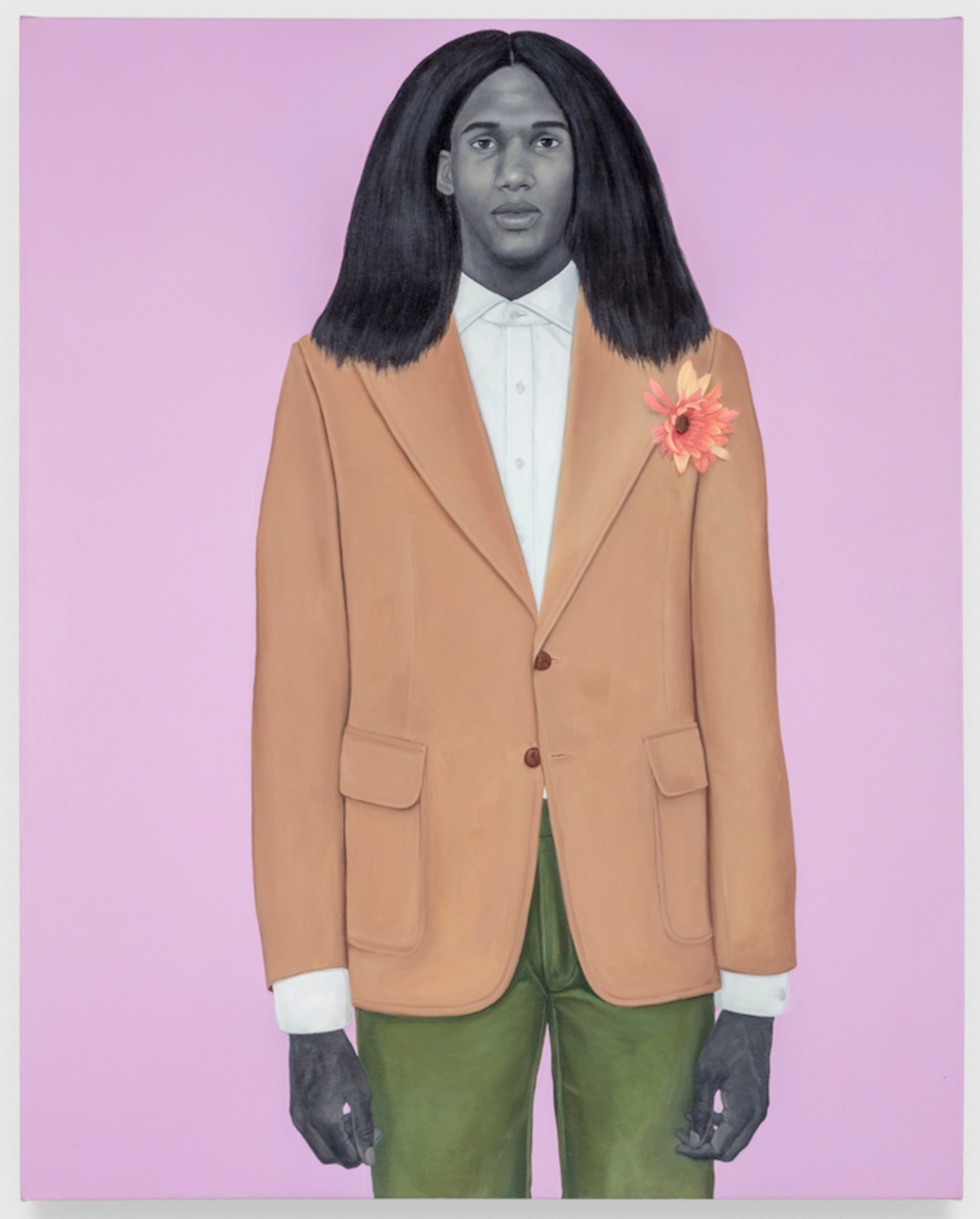 Amy Sherald, When I let go of what I am, I become what I might be (Self-Imagined atlas), 2018. © Amy Sherald. The Eileen Harris Norton Collection. Photo: Charles White.