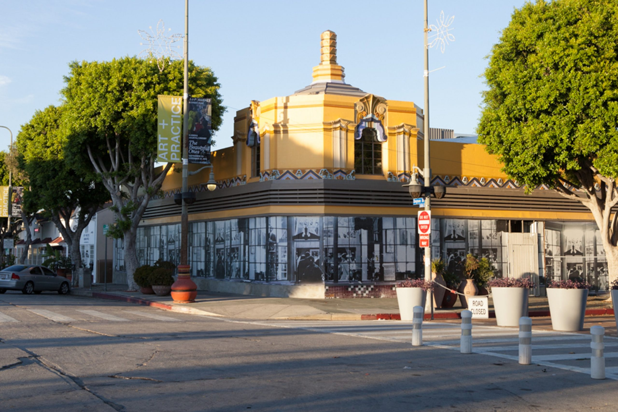 The A+P Art Deco building sits on the corner of 43rd Place and Degnan Boulevard in Leimert Park, Los Angeles. 9 October 2015. Photo by Natalie Hon.