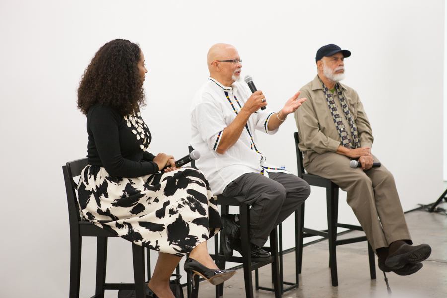 In Conversation: Dale Brockman Davis and Alonzo Davis with Naima J. Keith at Art + Practice, Los Angeles. February 17, 2015. Photo by Natalie Hon.