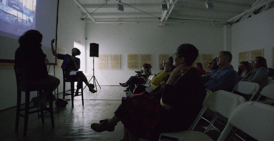 In Conversation: Sandy Rodriguez and Isabelle Lutterodt at Art + Practice. Los Angeles. March 18, 2015. Photo by Sean Shim Boyle.
