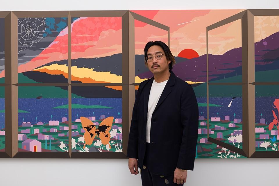 Greg Ito artist portrait. Courtesy the artist and Anat Ebgi. Photo: Michael Underwood.